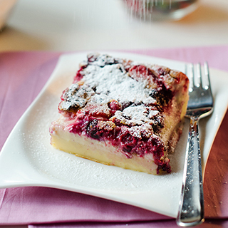 Mixed Berry and Coconut Clafoutis