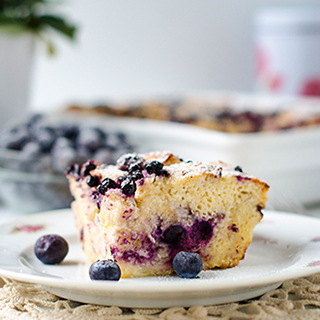 Overnight Blueberry and Sour Cream French Toast Casserole
