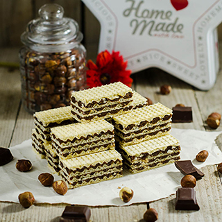 Chocolate Hazelnut Wafer Bars (Oblatne with Choco-Hazelnut Filling)