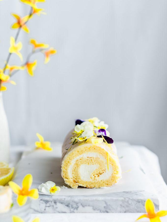 lemon roll cake
