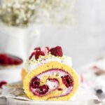 raspberry cheesecake roll cake